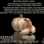 Stockholm - Garlic & Shots - Metal Bar