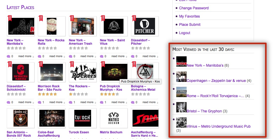 MetalPubs.com - most-viewed-last-30-days